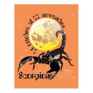 Scorpione 24 ottobre Al 22 novembre Cartolina Postcard