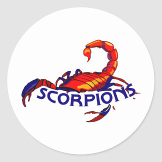 SCORPIONS TEAM CLASSIC ROUND STICKER