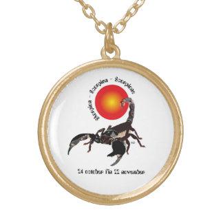 Scorpiun 24 more october fin 22 November necklace