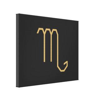 Scorpius Zodiac Sign Basic Canvas Print