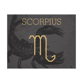 Scorpius Zodiac Sign | Custom Background + Text Canvas Print