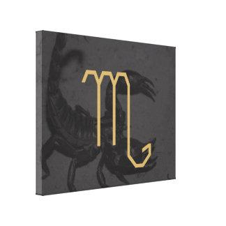 Scorpius Zodiac Sign | customizable Background Canvas Print