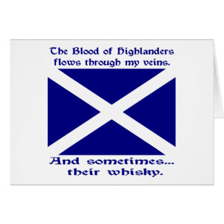 Scot Highlander Blood & Whisky Greeting Card