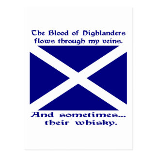 Scot Highlander Blood & Whisky Postcard
