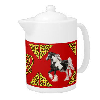 Scotalnd Celtic design/Gypsy Vanner pinto red