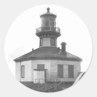 Scotch Cap Lighthouse 2 Round Sticker