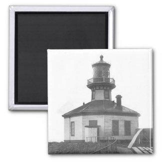 Scotch Cap Lighthouse 2 Square Magnet