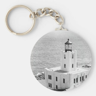 Scotch Cap Lighthouse Basic Round Button Key Ring