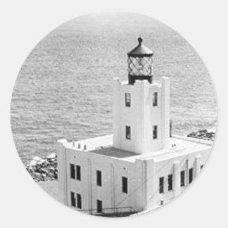Scotch Cap Lighthouse Round Sticker