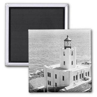 Scotch Cap Lighthouse Square Magnet