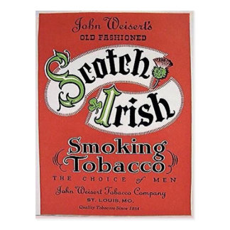 Scotch-Irish tobacco postcard