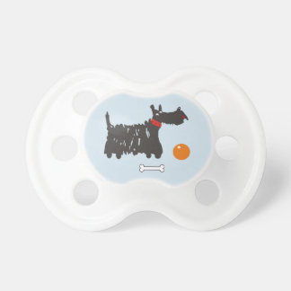 Scotch terrier. baby pacifier