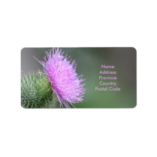 Scotch Thistle Label Address Label
