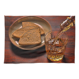 Scotch Whisky and Oatcakes Photograph Tea Towel
