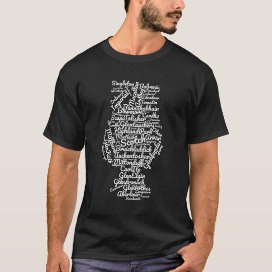 Scotch word cloud - white on black T-Shirt