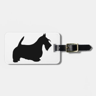 Scotish Terrier Silhouette Luggage Tag