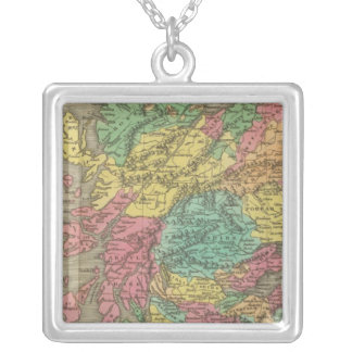 Scotland 18 silver plated necklace