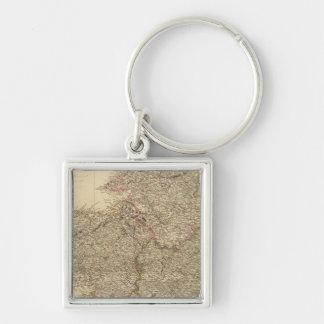 Scotland 20 Silver-Colored square key ring