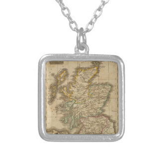 Scotland 4 silver plated necklace