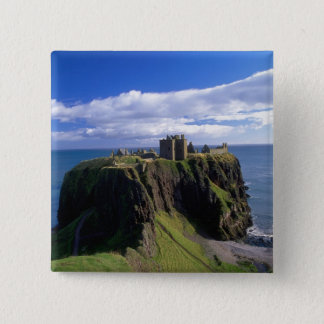 Scotland, Aberdeen. Dunnotar Castle. 15 Cm Square Badge