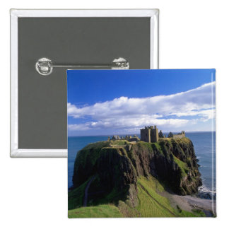 Scotland, Aberdeen. Dunnotar Castle. 15 Cm Square Badge