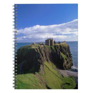 Scotland, Aberdeen. Dunnotar Castle. Notebook