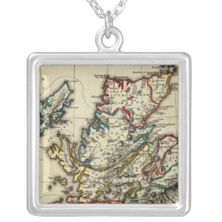 Scotland ancient, modern silver plated necklace
