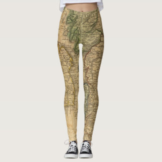Scotland and Ireland Map Leggings