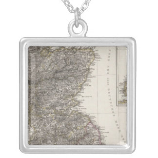 Scotland Atlas Map 2 Silver Plated Necklace