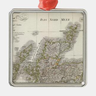 Scotland Atlas Map Christmas Ornament