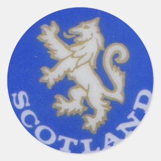 scotland badge round sticker