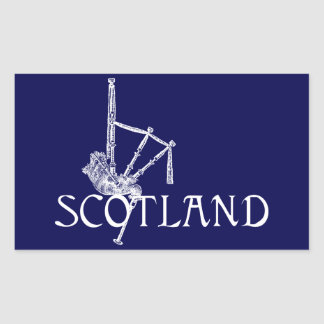Scotland Bagpipes, Scottish Design Rectangular Sticker