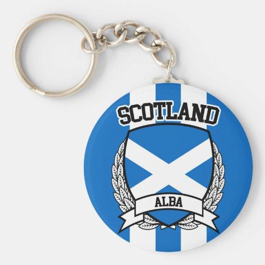 Scotland Basic Round Button Key Ring