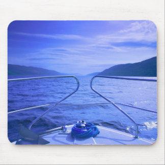 Scotland blue boat mouse pad