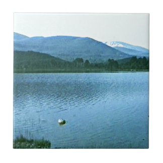 Scotland Cairngorm Mountains Art snap36688 jGibney Small Square Tile
