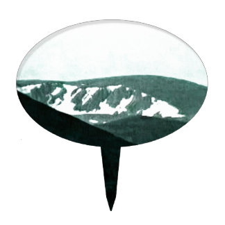 Scotland Cairngorm Mountains Art snap-36430 jGibne Cake Toppers