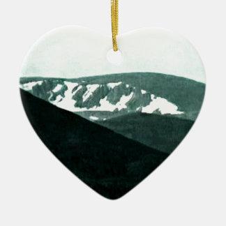 Scotland Cairngorm Mountains Art snap-36430 jGibne Ceramic Heart Decoration