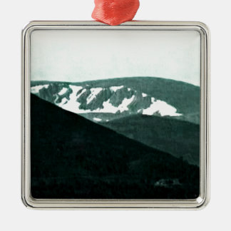 Scotland Cairngorm Mountains Art snap-36430 jGibne Silver-Colored Square Decoration