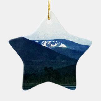 Scotland Cairngorm Mountains Art snap-36518 jGibne Ceramic Star Decoration
