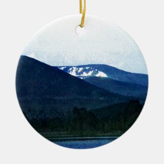 Scotland Cairngorm Mountains Art snap-36518 jGibne Round Ceramic Decoration