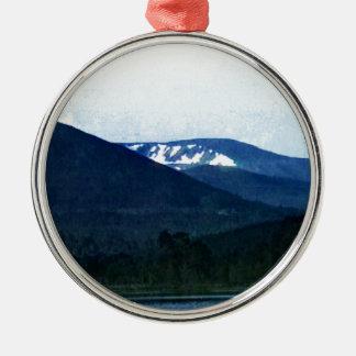 Scotland Cairngorm Mountains Art snap-36518 jGibne Silver-Colored Round Decoration