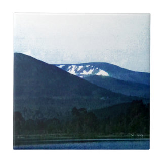 Scotland Cairngorm Mountains Art snap-36518 jGibne Small Square Tile