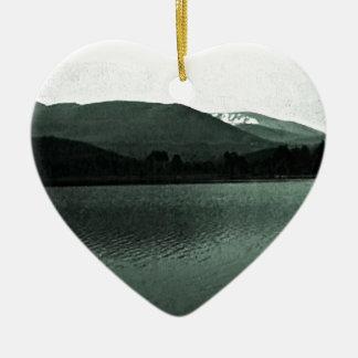 Scotland Cairngorm Mountains Art snap-36648 jGibne Ceramic Heart Decoration