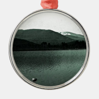 Scotland Cairngorm Mountains Art snap-36648 jGibne Silver-Colored Round Decoration