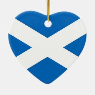 SCOTLAND CERAMIC HEART DECORATION
