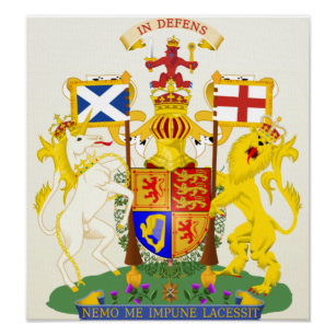 Royal Coat of Arms of the Kingdom of Scotland Poster