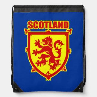 Scotland Coat of Arms with Lion Rampant Drawstring Bag