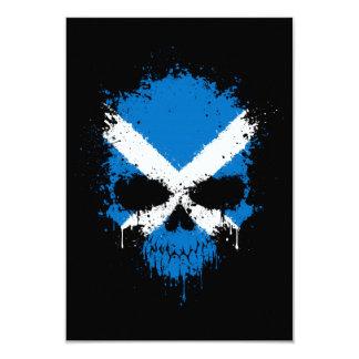 Scotland Dripping Splatter Skull Custom Invitation