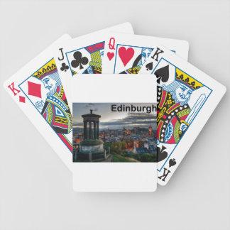 Scotland Edinburgh skyline (St.K) Bicycle Playing Cards