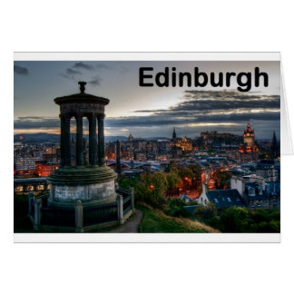 Scotland Edinburgh skyline (St.K) Card